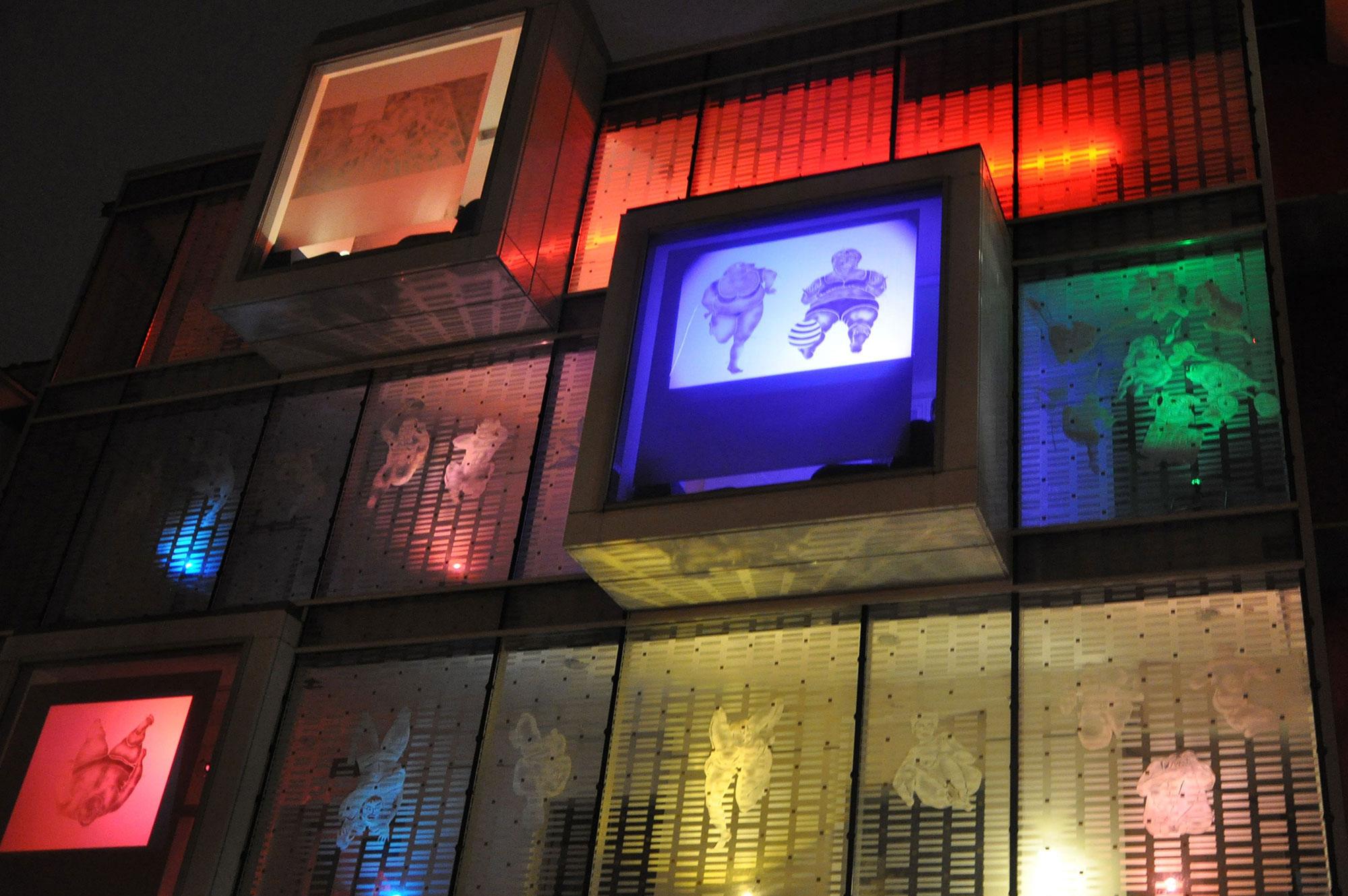 Mise en lumière à la Maison des Ensemble, Nuit Blanche 2012